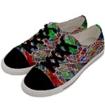 Pop Art - Spirals World 1 Men s Low Top Canvas Sneakers