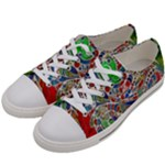Pop Art - Spirals World 1 Women s Low Top Canvas Sneakers