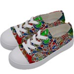 Pop Art - Spirals World 1 Kids  Low Top Canvas Sneakers