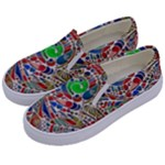Pop Art - Spirals World 1 Kids  Canvas Slip Ons