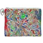 Pop Art - Spirals World 1 Canvas Cosmetic Bag (XXL)