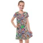 Pop Art - Spirals World 1 Kids  Cross Web Dress