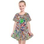 Pop Art - Spirals World 1 Kids  Smock Dress