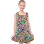 Pop Art - Spirals World 1 Kids  Cross Back Dress