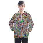 Pop Art - Spirals World 1 Men s Half Zip Pullover