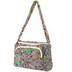 Pop Art - Spirals World 1 Front Pocket Crossbody Bag