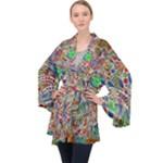 Pop Art - Spirals World 1 Long Sleeve Velvet Kimono