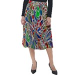 Pop Art - Spirals World 1 Classic Velour Midi Skirt