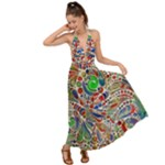 Pop Art - Spirals World 1 Backless Maxi Beach Dress