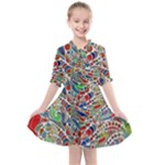 Pop Art - Spirals World 1 Kids  All Frills Chiffon Dress