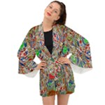 Pop Art - Spirals World 1 Long Sleeve Kimono