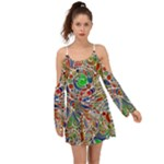 Pop Art - Spirals World 1 Kimono Sleeves Boho Dress
