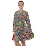 Pop Art - Spirals World 1 All Frills Chiffon Dress