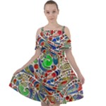 Pop Art - Spirals World 1 Cut Out Shoulders Chiffon Dress