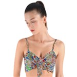 Pop Art - Spirals World 1 Woven Tie Front Bralet