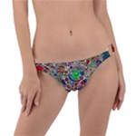 Pop Art - Spirals World 1 Ring Detail Bikini Bottom