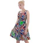 Pop Art - Spirals World 1 Knee Length Skater Dress