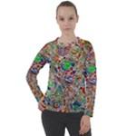 Pop Art - Spirals World 1 Women s Long Sleeve Raglan Tee