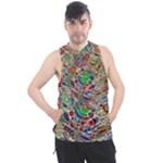 Pop Art - Spirals World 1 Men s Sleeveless Hoodie