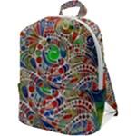 Pop Art - Spirals World 1 Zip Up Backpack