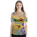 Supersonicplanet2020 Butterfly Sleeve Cutout Tee