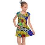 Supersonicplanet2020 Kids  Cap Sleeve Dress
