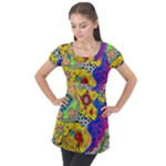 Supersonicplanet2020 Puff Sleeve Tunic Top