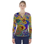 Supersonicplanet2020 V-Neck Long Sleeve Top