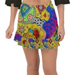 Supersonicplanet2020 Fishtail Mini Chiffon Skirt