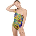 Supersonicplanet2020 Frilly One Shoulder Swimsuit