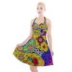 Supersonicplanet2020 Halter Party Swing Dress