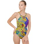 Supersonicplanet2020 High Neck One Piece Swimsuit
