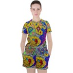 Supersonicplanet2020 Women s Tee and Shorts Set