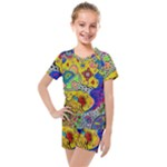 Supersonicplanet2020 Kids  Mesh Tee and Shorts Set