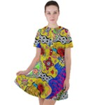 Supersonicplanet2020 Short Sleeve Shoulder Cut Out Dress