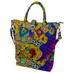 Supersonicplanet2020 Buckle Top Tote Bag