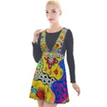 Supersonicplanet2020 Plunge Pinafore Velour Dress