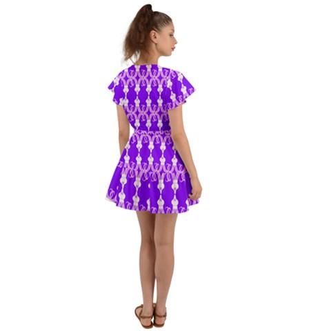 Flutter Sleeve Wrap Dress