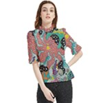 Supersonic Spaceopus Frill Neck Blouse