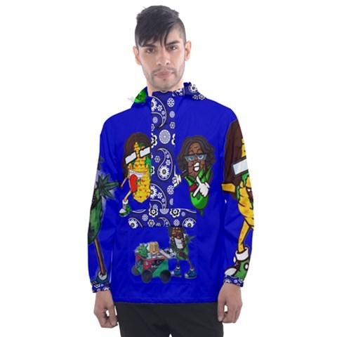 Men s Front Pocket Pullover Windbreaker