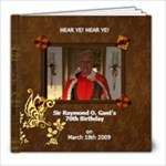 DAD 70th Birthday - 8x8 Photo Book (20 pages)
