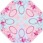 Amelia Cerise Swirls Umbrella - Folding Umbrella
