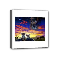2-77-Animals-Wildlife-1024-010 Mini Canvas 4  x 4  (Stretched)
