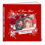 I Love You Valentine 8x8 RED cover - 8x8 Photo Book (20 pages)