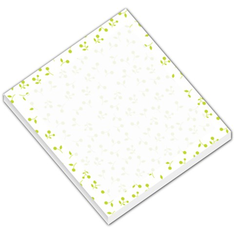 Green Small Flower By Design001   Small Memo Pads   G5h51q1qmcyk   Www Artscow Com