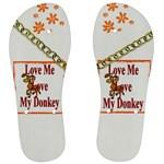 Love my donkey Men s Flip Flops