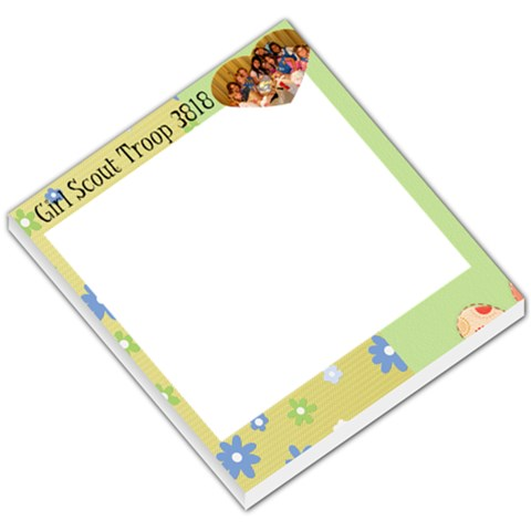 Daisy Memo Pad By Cheryl   Small Memo Pads   Ut47jux2yj0w   Www Artscow Com