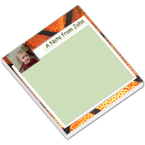 Basketball Notepad By Millie Kovatch   Small Memo Pads   Sassefyonwb1   Www Artscow Com