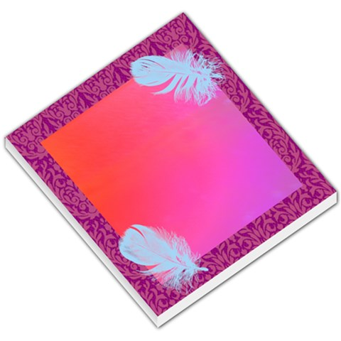 Feather Memo Pad By Jennifer Sneed   Small Memo Pads   Vavj7olxgpq2   Www Artscow Com