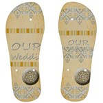 wedding - Men s Flip Flops
